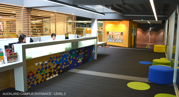 Auckland Campus reception